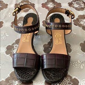 Salvatore Ferragamo Low Heel/Sandal Leather